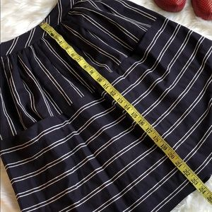 Anthropologie Skirts - NWT MAEVE Navy striped midi skirt with POCKETS❤️
